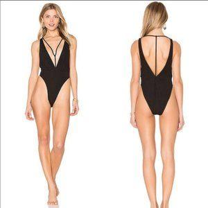 Motel Rocks Black Swimsuit Size M